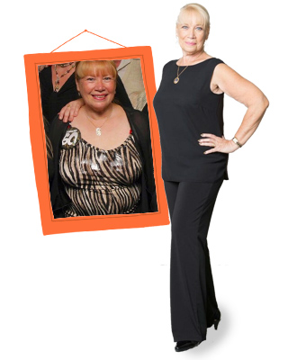 Mireille Allan before and after on 1:1 Diet