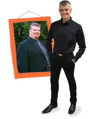 Paul Averte before and after on 1:1 Diet