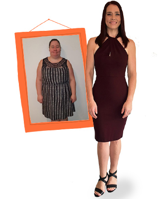 Sarah Schmeider before and after on 1:1 Diet
