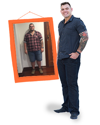 Sean Brown before and after on 1:1 Diet