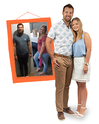 Todd and Victoria Banks before and after on 1:1 Diet