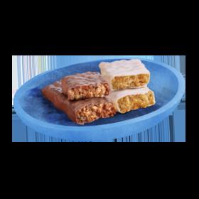 Dessert bars on plate