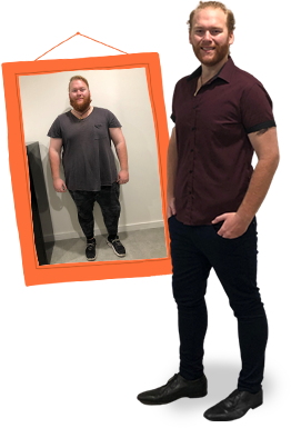 Nathan Lowe before and after on 1:1 Diet